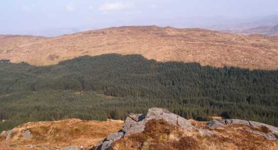 MountainViews.ie Picture about mountain Croaghmeen (<i>An Chruach Mhín</i>) in area South Donegal & West Tyrone, Ireland