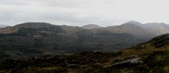 MountainViews.ie Picture about mountain Derrynafulla SW in area Caha Mountains, Ireland