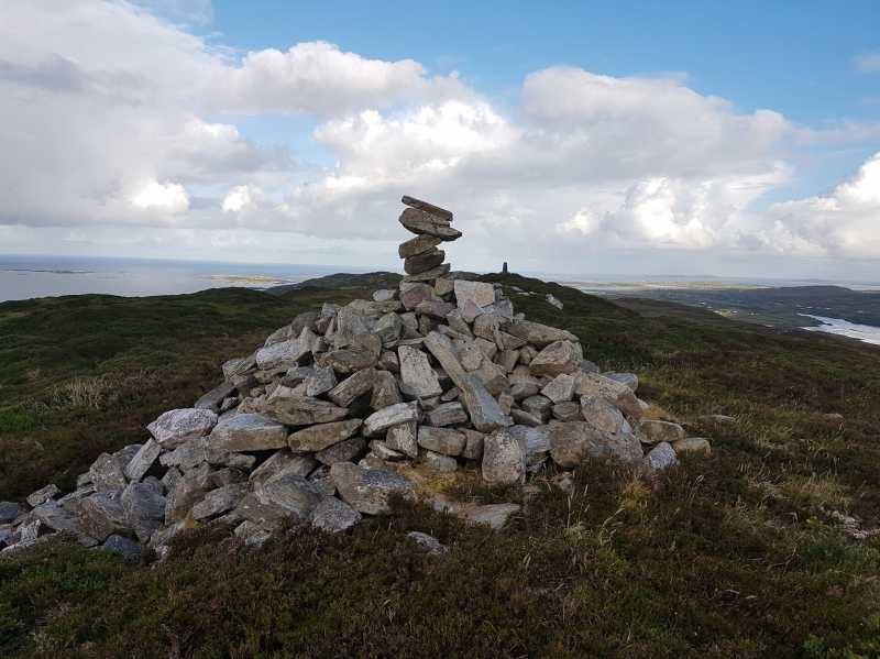 MountainViews.ie Picture about mountain Gortrumnagh in area Twelve Bens, Ireland