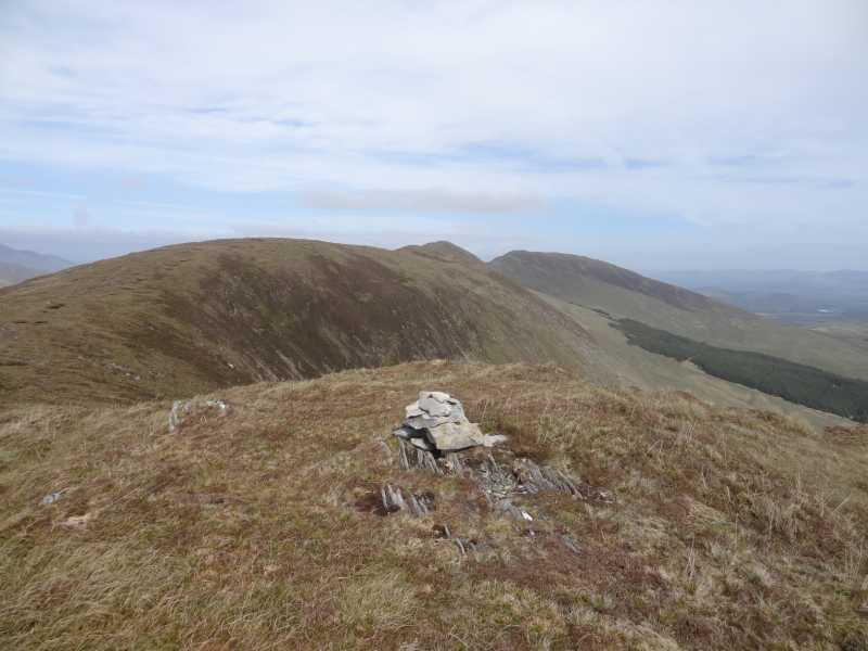 MountainViews.ie Picture about mountain Bascadh West Top in area Dunkerron Mountains, Ireland
