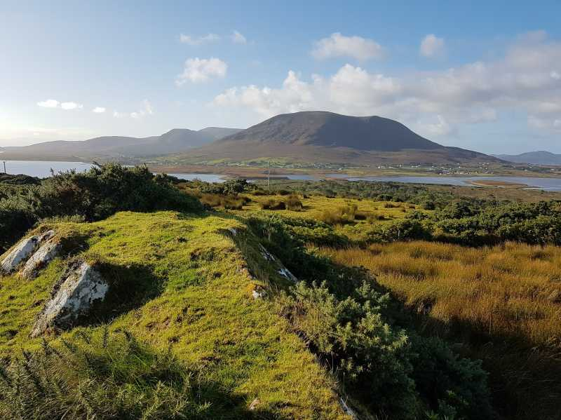 MountainViews.ie Picture about mountain Claggan Hill in area Mayo Coastal Hill, Ireland