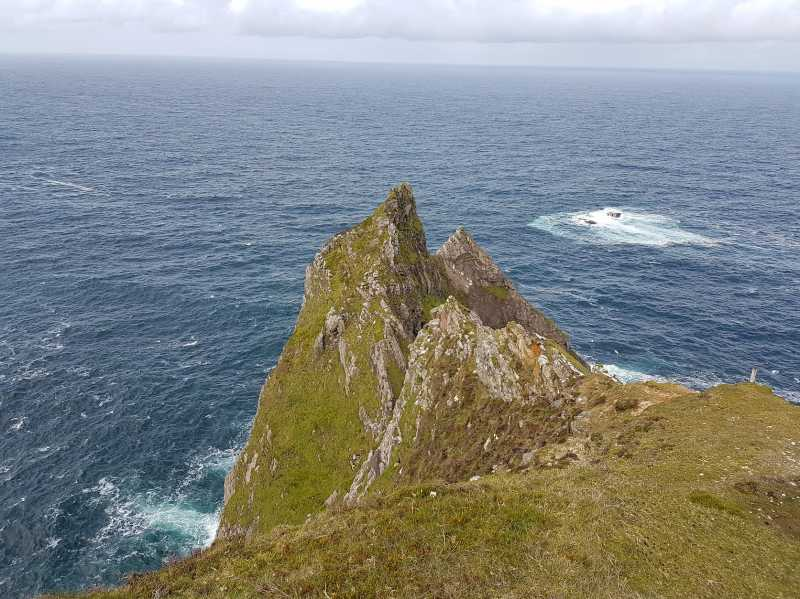 MountainViews.ie Picture about mountain Benwee NE Head in area Mayo Coastal Hill, Ireland