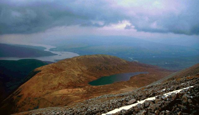 MountainViews.ie Picture about mountain Ben Nevis in area Fort William to Loch Treig and Loch Leven, Ireland