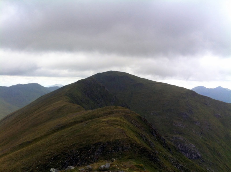 MountainViews.ie Picture about mountain Maol Chinn-dearg in area Glen Shiel to Loch Hourn and Loch Quoich, Ireland