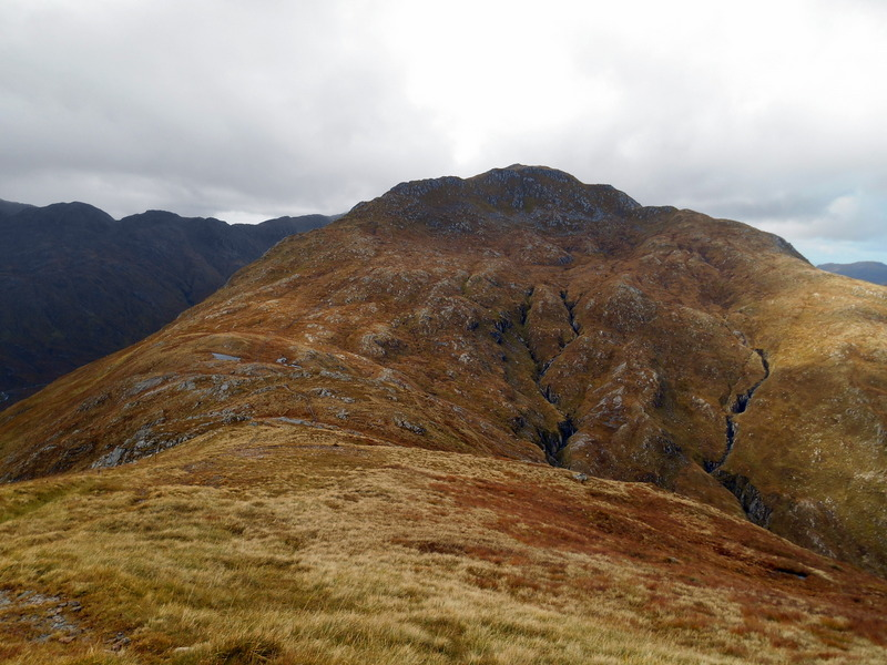 MountainViews.ie Picture about mountain Creag nan Damh in area Glen Shiel to Loch Hourn and Loch Quoich, Ireland
