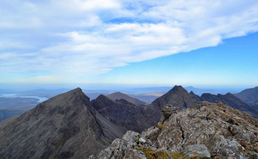 MountainViews.ie Picture about mountain Sgurr Dearg - Cairn in area Minginish and the Cuillin Hills, Ireland