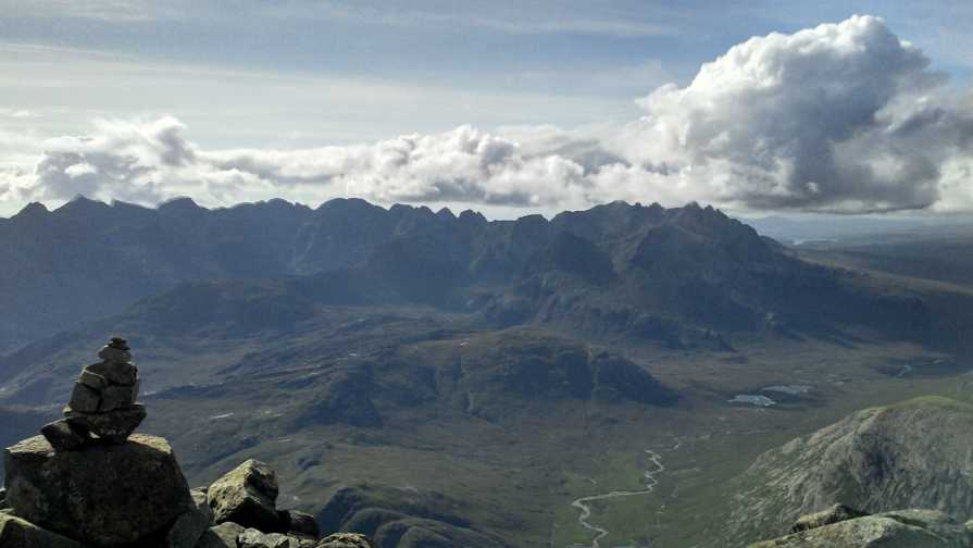 MountainViews.ie Picture about mountain Bla Bheinn [Blabheinn] [Blaven] in area Minginish and the Cuillin Hills, Ireland