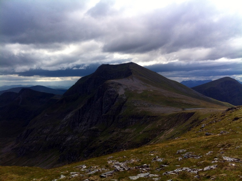 MountainViews.ie Picture about mountain Sgurr nan Clach Geala in area The Fannaichs, Ireland