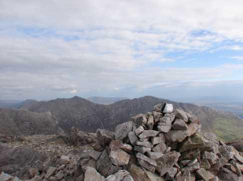 MountainViews.ie Picture about mountain Binn Bhraoin in area Twelve Bens, Ireland