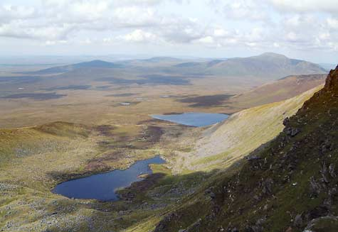 MountainViews.ie Picture about mountain Corranabinnia SW Top in area North Mayo, Ireland