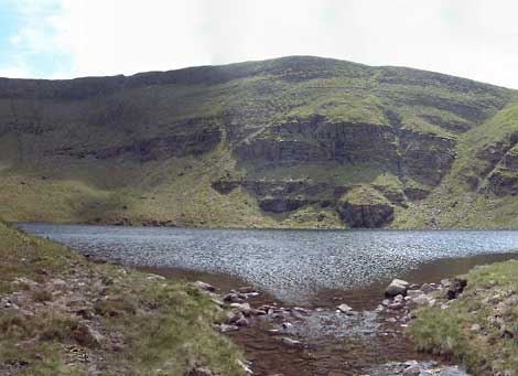 MountainViews.ie Picture about mountain Lough Curra Mtn in area Galty Mountains, Ireland