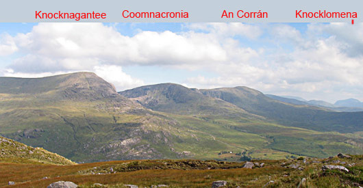 MountainViews.ie Picture about mountain Slievenashaska in area Dunkerron Mountains, Ireland